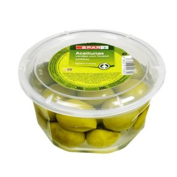 "WHOLE GREEN OLIVES -GORDAL- ""SPAR"""
