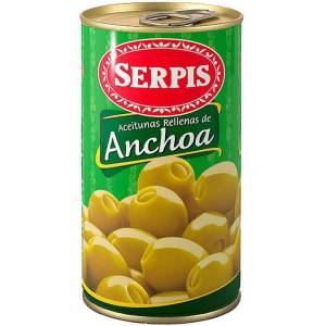 """GREEN OLIVES STUFFED WITH ANCHOVIES """"SERPIS"""""""