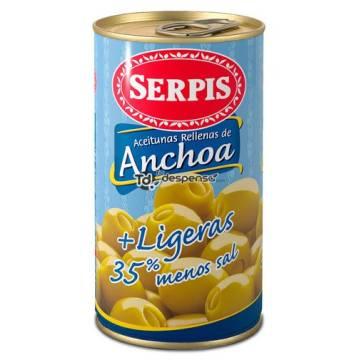 """ACEITUNAS RELLENAS DE ANCHOA + LIGERAS """"SERPIS"""""""