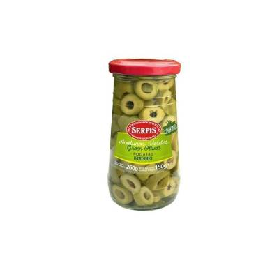 "GREEN OLIVES IN SLICES ""SERPIS"""