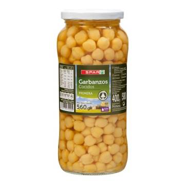 BOILED CHICKPEAS 560G SPAR