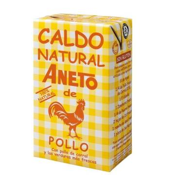 CALDO NATURAL DE POLLO ANETO 100% NATURAL 1 LITRO