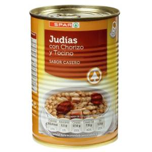 """WHITE BEANS WITH BACON AND CHORIZO """"SPAR"""""""