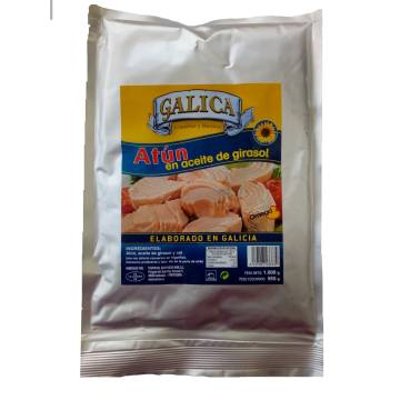 "TUNA IN SUNFLOWER OIL 1 KG ""GALICA"""