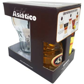 "DECORATED BOX ""ASIÁTICO"" COFFEE - 1 GLASS"