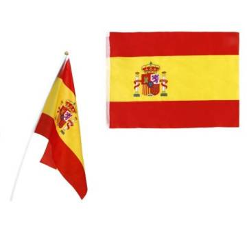 SMALL FLAG OF SPAIN WITH MAST