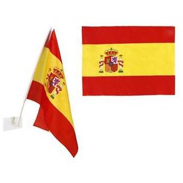 SMALL SPANISH FLAG FOR CAR