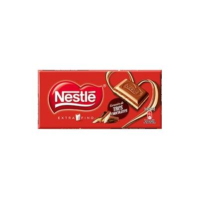 "CHOCOLATE CORAZÓN DE TRES CHOCOLATES ""NESTLÉ"" 120 G"