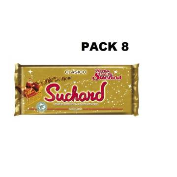 "TURRÓN DE CHOCOLATE CRUJIENTE PACK 8 ""SUCHARD"""