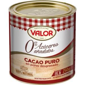 CACAO PURO SIN AZÚCAR VALOR 250 G
