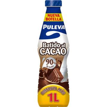 PULEVA cocoa milkshake with 90% milk bottle 1 l