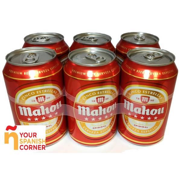 "5 ESTRELLAS BEER PACK 6 ""MAHOU"""