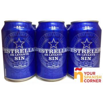 "BEER WHITOUT ALCOHOL PACK 6 ""ESTRELLA DE LEVANTE"""