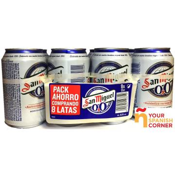 "BEER 0,0 PACK 8 ""SAN MIGUEL"""