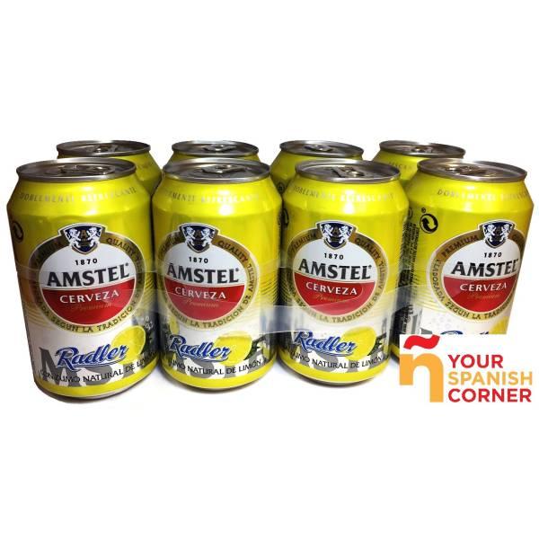 """BEER WITH LEMON PACK 8 """"AMSTEL"""""""