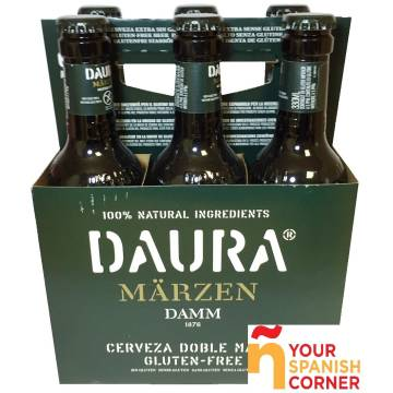 "BEER (WITHOUT GLUTEN) PACK 6 DAURA MARZËN ""DAMM"""