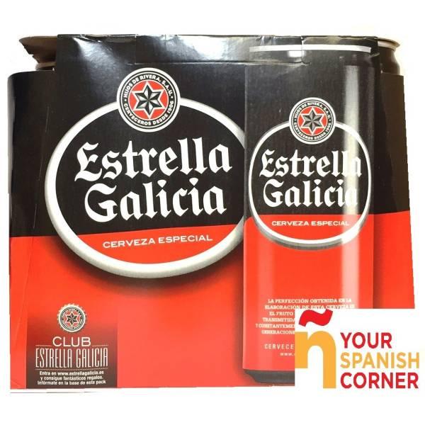 """CERVEZA PACK 6 """"ESTRELLA DE GALICIA"""""""