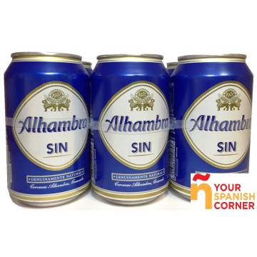 "BEER WITHOUT ALCOHOL PACK 6 ""ALHAMBRA"""