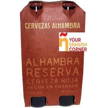 "CERVEZA RESERVA ROJA PACK 4 ""ALHAMBRA"""