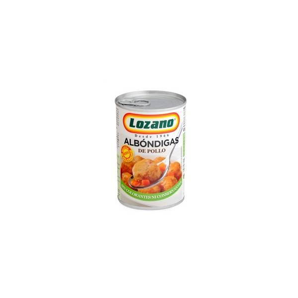 ALBONDIGAS DE POLLO LOZANO BOTE 415G.