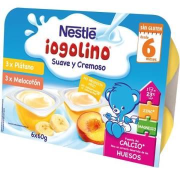 "BABY IOGOLINO PLATANO/MELOCOTON (6 X 60 GR) ""NESTLÉ"""
