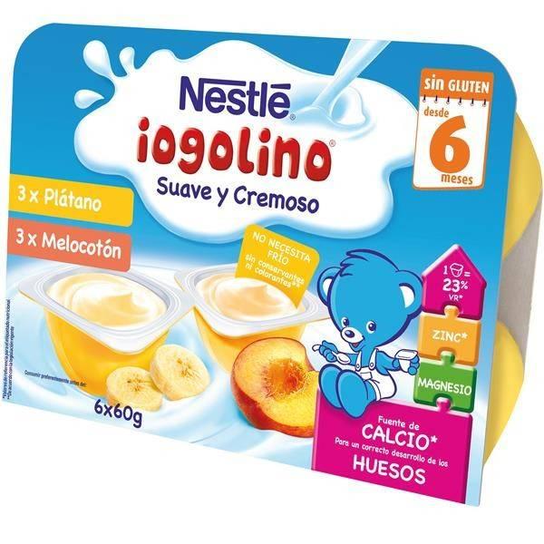 "BABY IOGOLINO BANANA/PFIRSICH (6 X 60 GR) ""NESTLÉ"""