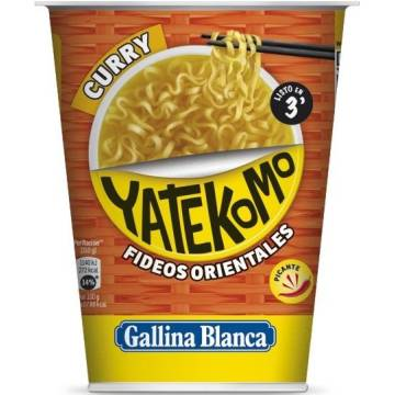 "ORIENTAL NOODLES WITH SPICY CURRY YATEKOMO ""GALLINA BLANCA"""