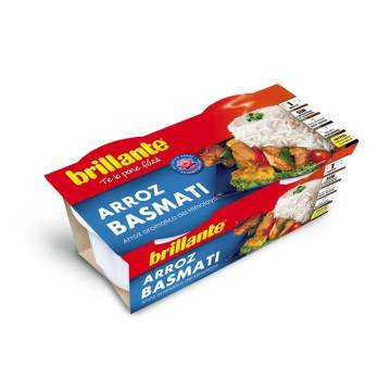 "COOKED BASMATI RICE PACK 2 ""BRILLANTE"""