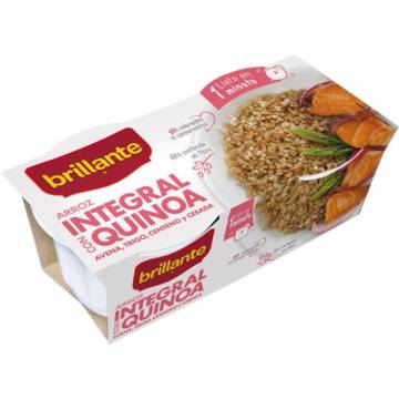 "ARROZ COCIDO INTEGRAL CON QUINOA PACK 2 ""BRILLANTE"""
