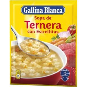 Sopa de ternera con estrellitas GALLINA BLANCA