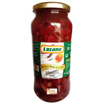 "BOILED RED BEANS 580G ""LOZANO"""