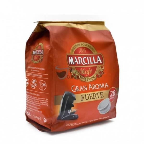 "STRONG COFFEE GRAN AROMA -SENSEO CAPSULES- ""MARCILLA"""