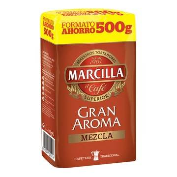 "GROUND MIXED COFFEE GRAN AROMA 500G ""MARCILLA"""