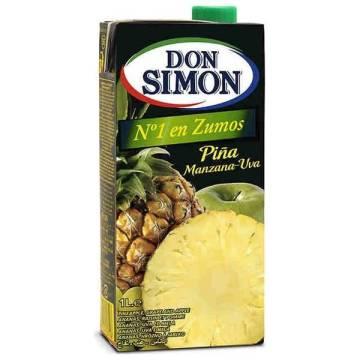 JUS D'ANANAS, POMME ET RAISIN 1L DON SIMON