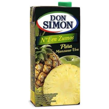 "PINEAPPLE, APPLE AND GRAPE JUICE  1L ""DON SIMON"""