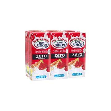 FRUIT MILK WATERMELON AND MELON ZERO FAT 6x200ML DON SIMON