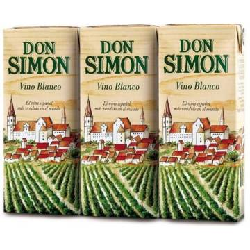 VINO BLANCO DON SIMON MINI BRIK 3X187 ML.