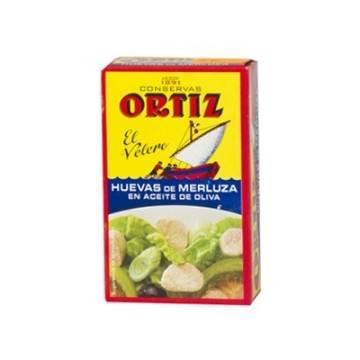 """HUEVAS DE MERLUZA EN ACEITE DE OLIVA """"ORTIZ"""""""