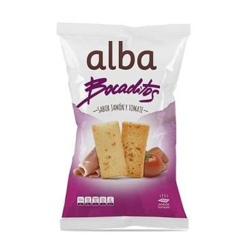 TOASTED BREAD WITH TOMATO AND SERRANO HAM FLAVOUR 110G ALBA