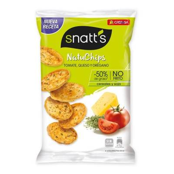 "NATUCHIPS TOMATO, CHEESE AND OREGANO ""SNATT'S"""
