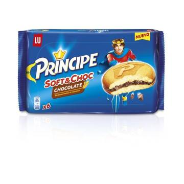 "CHOCOLATE-FILLED BISCUITS SOFT & CHOC PRÍNCIPE ""LU"" (180 G)"