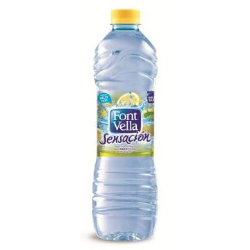 "WATER WITH LEMON FLAVOR WITHOUT SUGAR -SENSATION- ""FONT VELLA"""