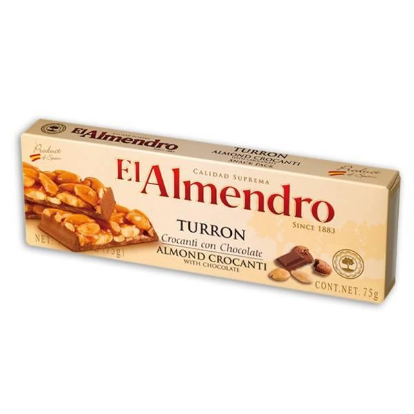 TURRÓN CROCANTI CON CHOCOLATE 75G EL ALMENDRO