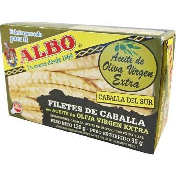 "FILETES DE CABALLA EN ACEITE DE OLIVA ""ALBO"""