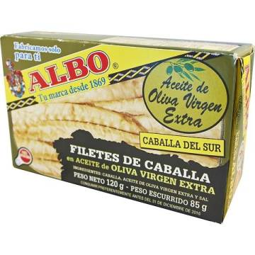 "MACKEREL FILLETS IN OLIVE OIL ""ALBO"""