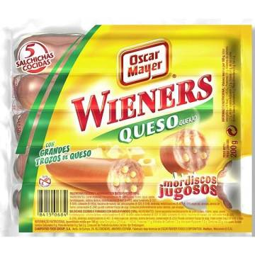 "WIENERS CHEESE SAUSAGES ""OSCAR MAYER"""