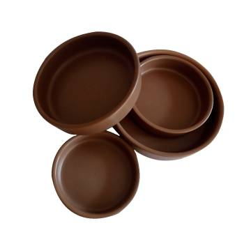 BROWN CERAMIC OVEN DISH - 18CM