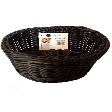 OVAL BLACK BREAD BASKET