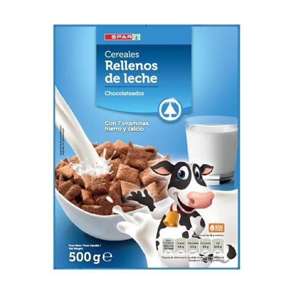 CEREALES RELLENOS DE LECHE CHOCOLATEADOS SPAR