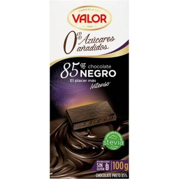 "CHOCOLATE NEGRO 85% SIN AZÚCAR ""VALOR"""